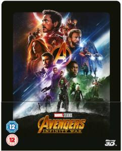 Vengadores: Infinity War 3D (incluye Blu-ray 2D) - Steelbook Lenticular Exclusivo de Zavvi (Edición UK)