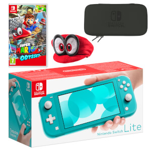 Nintendo Switch Lite (Turquoise) Super Mario Odyssey Pack