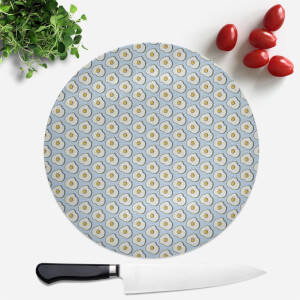 Cooking Fried Egg Pattern Round Chopping Board