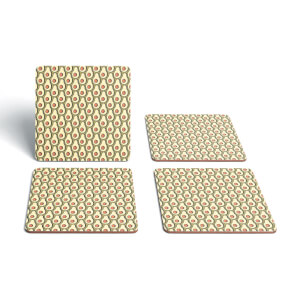 Cooking Avocado Pattern Coaster Set