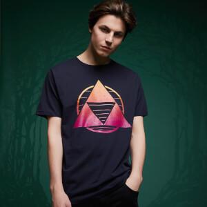 Legend Of Zelda Neon Triforce T-Shirt - Navy