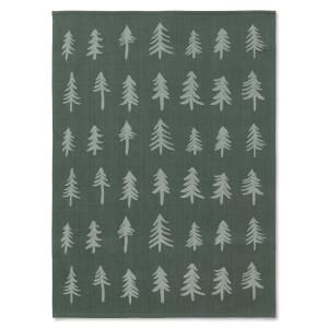 Ferm Living Christmas Tea Towel - Dark Green