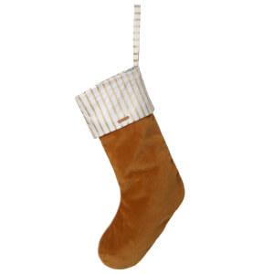Ferm Living Christmas Velvet Stocking - Mustard