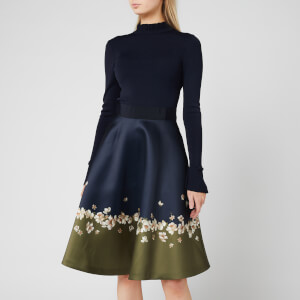 Ted Baker Women's Lotis Pearl Printed Full Skirted Dress - Dark Blue