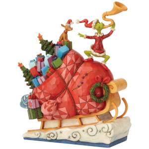 The Grinch By Jim Shore Grinch on Sleigh Figurine