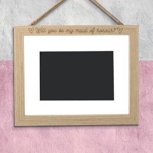 Will You Be My Maid Of Honour? Landscape Frame
