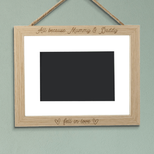 All Because Mummy And Daddy Fell In Love Landscape Frame