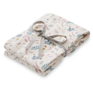 Cam Cam Light Printed Swaddle - Pressed Leaves Rose