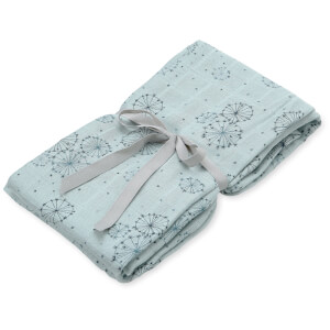 Cam Cam Light Printed Swaddle - Dandelion Petrol