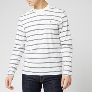 Lacoste Men's Striped Jersey T-Shirt - Farine/Marine