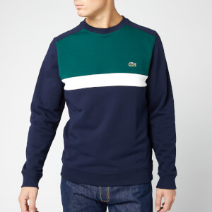 Lacoste Men's Cut and Sew Sweatshirt - Marine