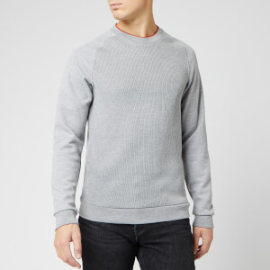 Ted Baker Men's Pied Knit Ribbed Front Cotton Sweatshirt - Grey Marl