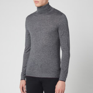 Ted Baker Men's Newtrik Fitted Roll Neck Sweatshirt - Grey Marl