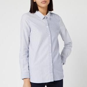 Barbour Women's Bay Long Sleeve Shirt - Navy/White