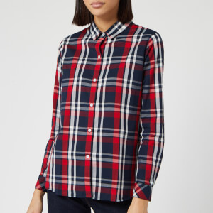 Barbour Women's Cheviot Long Sleeve Shirt - Navy Check