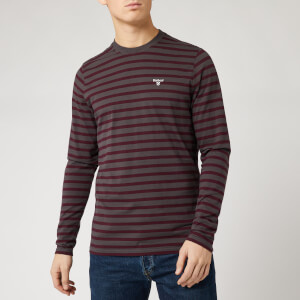 Barbour Men's Bow Long Sleeve Stripe T-Shirt - Charcoal