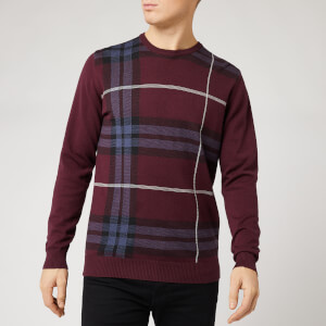 Barbour Men's Elgin Jacquard Crew Neck Sweatshirt - Merlot