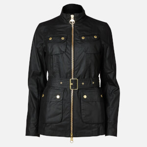Barbour International Women's Guard Wax Jacket - Black