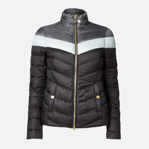 Barbour International Women's Auburn Blocked Quilted Jacket - Black/Ice White/Tornado