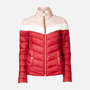 Barbour International Women's Auburn Blocked Quilted Jacket - Rhubarb/Clud/Blusher