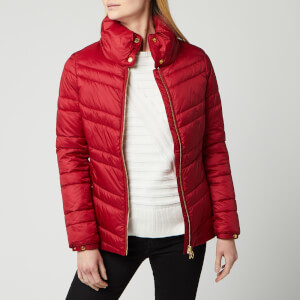 Barbour International Women's Rally Quilted Jacket - Rhubarb