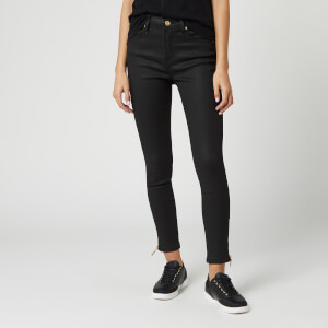 Barbour International Women's Coated Durant Jeans - Black