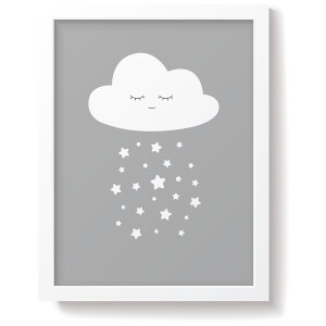 Snüz Cloud Nursery Print - Grey