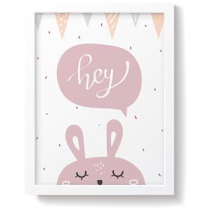 Snüz Hey Bunny Nursery Print - Pink