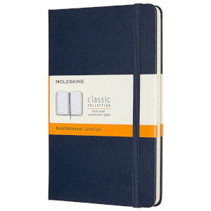 Moleskine Classic Ruled Hardcover Medium Notebook - Sapphire Blue