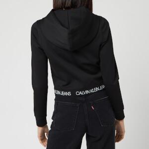 Calvin Klein Jeans Women's Logo Elastic Milano Hoody - CK Black