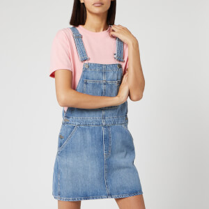 Tommy Jeans Women's Classic Dungaree Dress - Mid Blue Rig