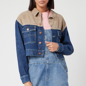 Tommy Jeans Women's Cropped Trucker Jacket - New Care Mix Rig