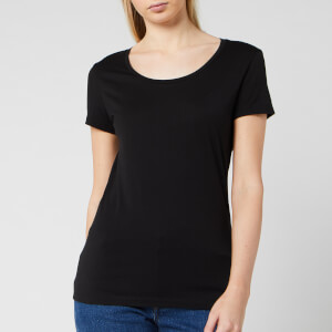 BOSS Short Sleeve Women's Tigreat Short Sleeve Basic T-Shirt - Black
