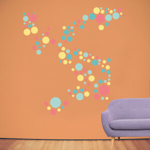 Polka Dot Pattern 2 Wall Art Sticker Pack