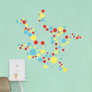 Polka Dot Pattern 3 Wall Art Sticker Pack