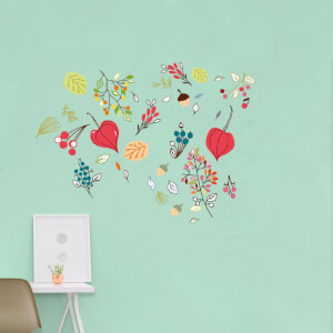 Woodland Leaves Scatter Wall Art Sticker Pack