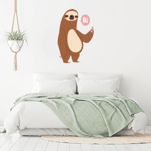 Hi Sloth Wall Art Sticker