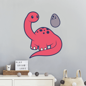 Dinosaur With Egg Wall Art Sticker
