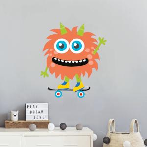 Monster On Skateboard Wall Art Sticker