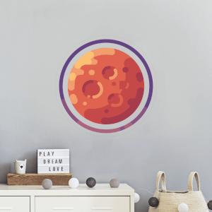 Red Planet Wall Art Sticker