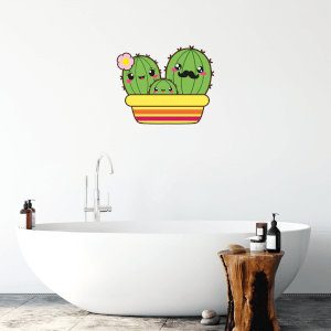 Cactus Family Wall Art Sticker