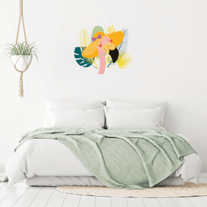 Flamingo With Hat On Wall Art Sticker