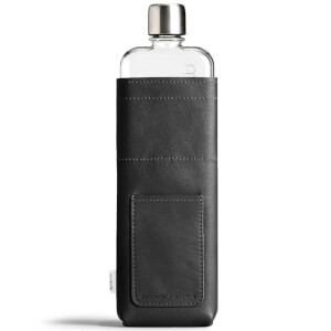 Memobottle Slim Vegan Leather Sleeve - Black