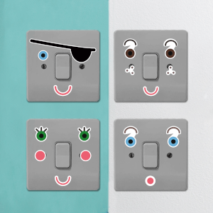 Character Faces Light Switch Art
