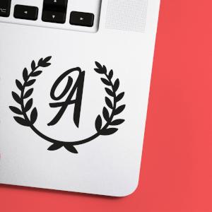 Letter Reef Laptop Sticker