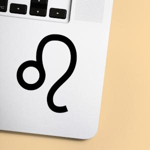 Leo Symbol.pdf Laptop Sticker