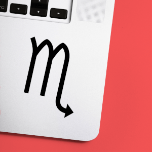 Virgo Symbol Laptop Sticker