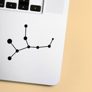 Virgo Constellation Laptop Sticker