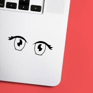 Anime Eyes Laptop Sticker