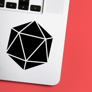 D20 Dice Laptop Sticker